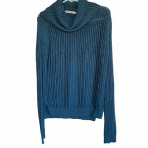 Stitches & Stripes Teal Cowl Neck Sweater Medium
